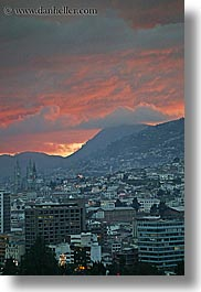 cityscapes, clouds, ecuador, equator, latin america, nature, quito, sky, sunsets, vertical, photograph