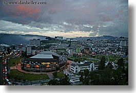cityscapes, clouds, dusk, ecuador, equator, horizontal, latin america, nature, quito, sky, photograph