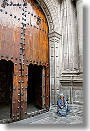 arches, beggar, doors, ecuador, equator, large, latin america, quito, vertical, womens, photograph