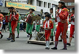 bands, clothes, colors, ecuador, equator, families, horizontal, latin america, men, quito, red, uniforms, photograph