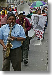 ecuador, equator, instruments, latin america, men, music, playing, quito, saxophones, vertical, photograph