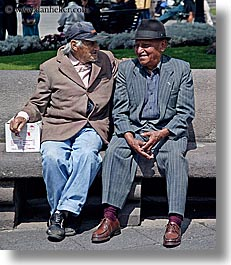 baseball cap, bollo, clothes, ecuador, equator, hats, latin america, men, old, quito, vertical, photograph