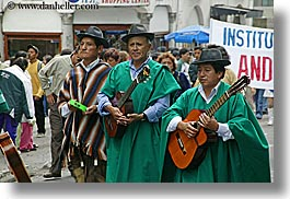 ecuador, equator, guitars, horizontal, instruments, latin america, men, music, quchua, quito, photograph