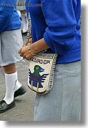 blues, colors, ecuador, equator, knit, latin america, purses, quito, vertical, photograph