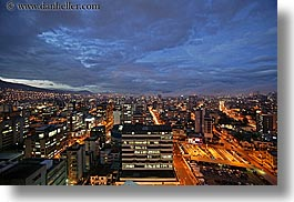 cityscapes, clouds, ecuador, equator, horizontal, latin america, lights, nature, nite, quito, sky, slow exposure, traffic, transportation, photograph