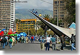 ecuador, end, equator, horizontal, latin america, parade, people, quito, photograph