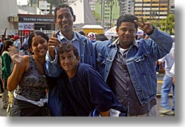 ecuador, emotions, equator, happy, horizontal, latin america, people, quito, smiles, waving, photograph
