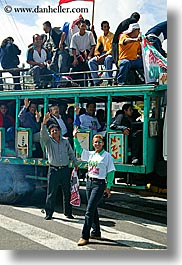 bus, ecuador, equator, latin america, people, quito, vertical, photograph