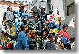 ecuador, equator, floats, horizontal, latin america, parade, people, quito, photograph