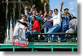 ecuador, emotions, equator, happy, horizontal, latin america, people, political, quito, teenagers, photograph
