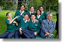 clothes, college, ecuador, emotions, equator, happy, horizontal, latin america, laugh, people, quito, smiles, students, teacher, tech, uniforms, photograph