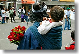 babies, ecuador, equator, horizontal, latin america, people, quito, roses, womens, photograph