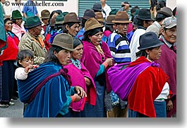 bollo, clothes, colorful, colors, ecuador, equator, hats, horizontal, indigenous, latin america, people, quechua, quito, womens, photograph