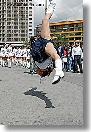 boots, clothes, ecuador, equator, jump, latin america, majorettes, people, quito, shoes, vertical, womens, photograph