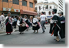 clothes, dancing, ecuador, equator, horizontal, latin america, old, people, quito, senior citizen, uniforms, womens, photograph