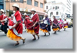 dance, ecuador, equator, horizontal, latin america, motion blur, people, quechua, quito, womens, photograph