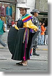 colorful, ecuador, equator, latin america, people, quechua, quito, rainbow, vertical, womens, photograph