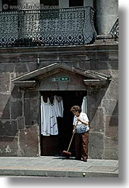 ecuador, equator, latin america, people, quito, sweeping, vertical, womens, photograph