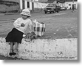 ecuador, equator, girls, horizontal, latin america, market, saquisili, photograph