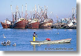 estuary, fishermen, horizontal, latin america, mexico, photograph