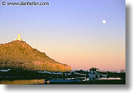 horizontal, latin america, lighthouses, mexico, moon, mulege, photograph