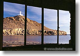 horizontal, latin america, lighthouses, mexico, mulege, windows, photograph