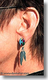 earrings, latin america, mexico, punta chivato, vertical, photograph