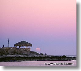 beaches, horizontal, latin america, mexico, moon, punta chivato, sunsets, photograph