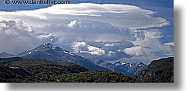 clouds, horizontal, latin america, mountains, panoramic, patagonia, photograph