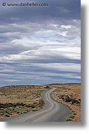 clouds, latin america, patagonia, roads, vertical, photograph