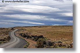 clouds, horizontal, latin america, patagonia, roads, photograph