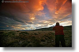 clouds, horizontal, latin america, patagonia, sunsets, photograph