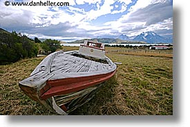 boats, estancia lazo, horizontal, latin america, old, patagonia, photograph