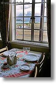 estancia lazo, latin america, patagonia, tables, vertical, windows, photograph