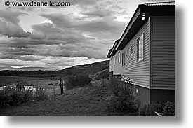 black and white, clouds, estancia lazo, horizontal, latin america, patagonia, windows, photograph