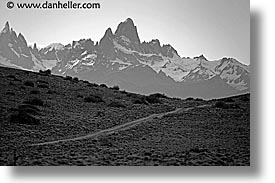 black and white, fitz roy, fitzroy, horizontal, latin america, patagonia, photograph