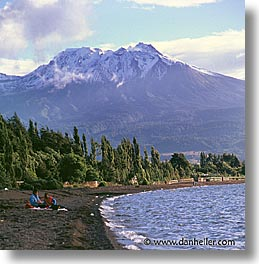 beaches, latin america, mountains, patagonia, square format, photograph