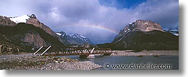 horizontal, latin america, mountains, panoramic, patagonia, rainbow, photograph