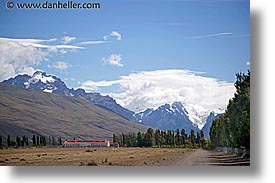 farm, horizontal, latin america, mountains, patagonia, photograph