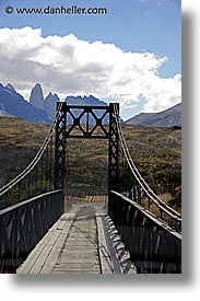 bridge, latin america, patagonia, torres, torres del paine, vertical, photograph