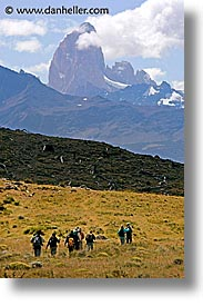 central, hiking, latin america, patagonia, torres, torres del paine, vertical, photograph