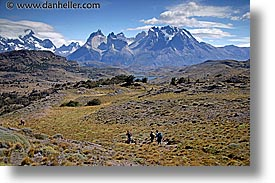hiking, horizontal, latin america, patagonia, torres, torres del paine, towards, photograph