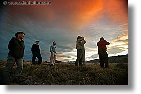 groups, horizontal, latin america, patagonia, sunsets, viewing, wt people, photograph