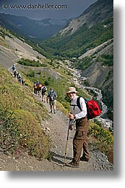gorge, hiking, jan vic, latin america, patagonia, rivers, vertical, wt people, photograph