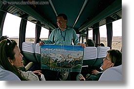 bus, fisheye lens, horizontal, latin america, map, patagonia, rob, wt people, photograph