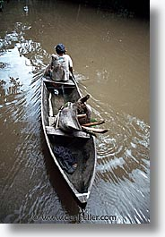 amazon, jungle, latin america, old, peru, river people, rivers, rowers, vertical, photograph