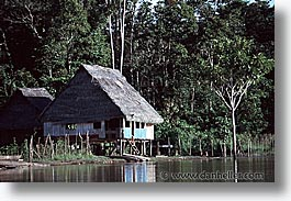 amazon, horizontal, houses, jungle, latin america, peru, river people, rivers, photograph