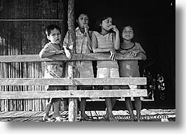 amazon, black and white, childrens, horizontal, jungle, latin america, people, peru, river people, rivers, photograph