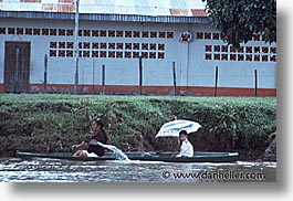 amazon, boats, horizontal, jungle, latin america, peru, river people, rivers, umbrellas, photograph