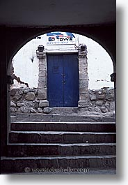 capital of peru, cities, cityscapes, cuzco, doors, latin america, peru, peruvian capital, towns, vertical, photograph